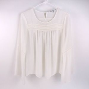 Collective Concepts cream blouse bell sleeves
